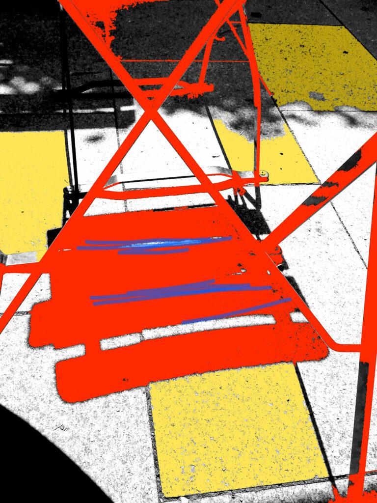 Stuhl 2D, Johann Seidl 2013, Fotobearbeitung
