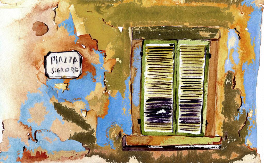 Fenster in der Toskana