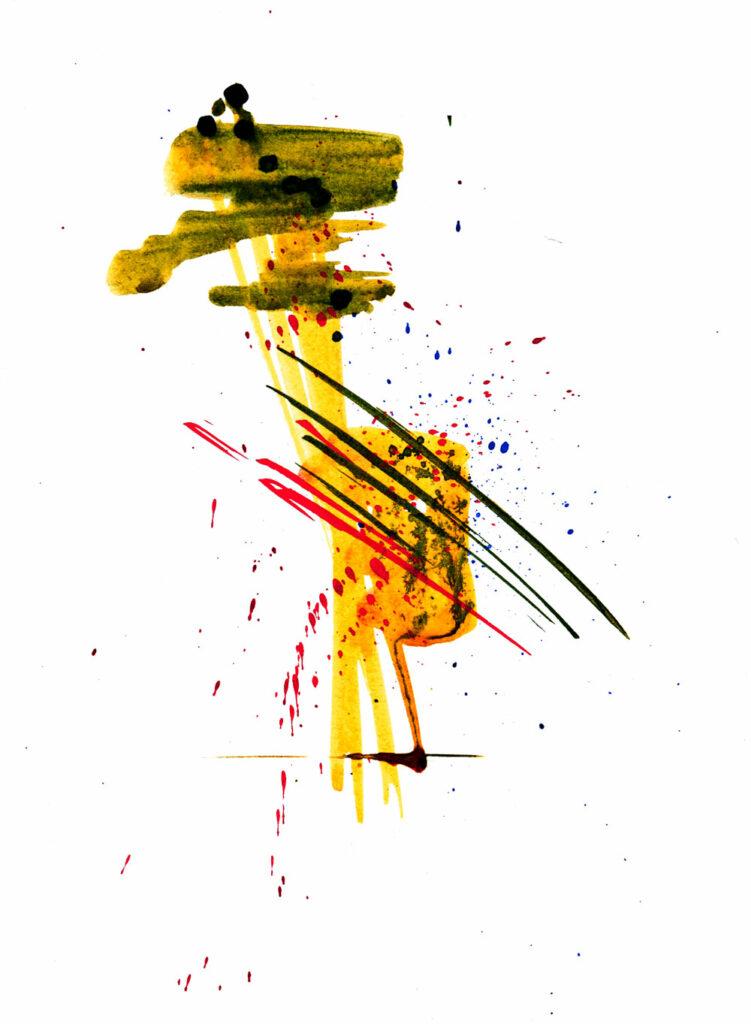 Abstrakt gelb 2