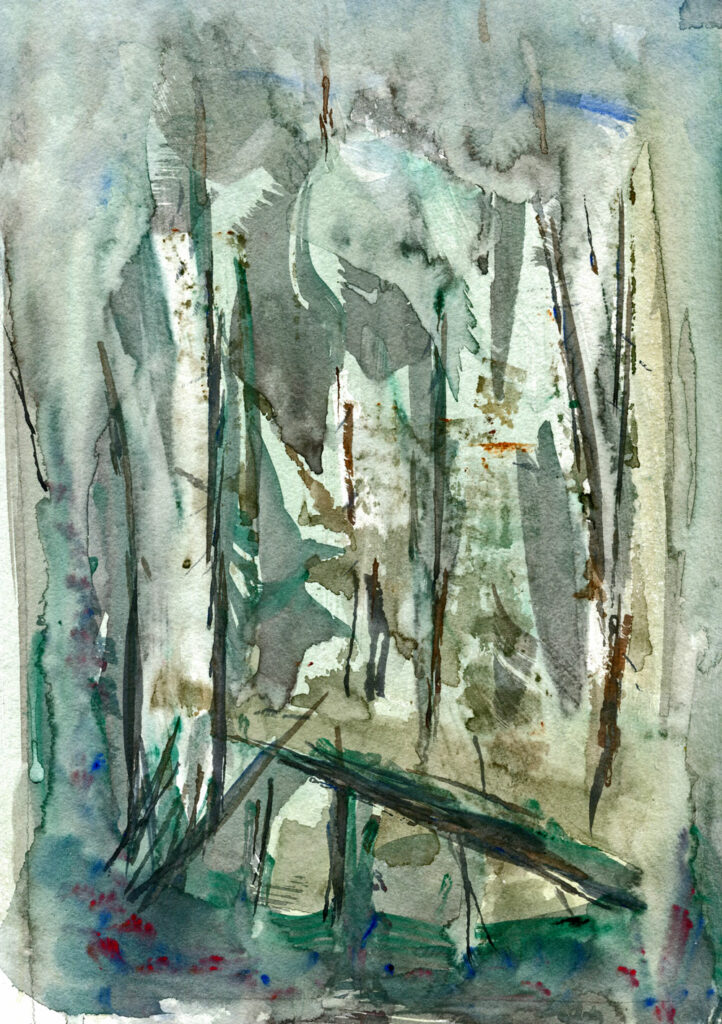 Im Wald - Aquarell 2014