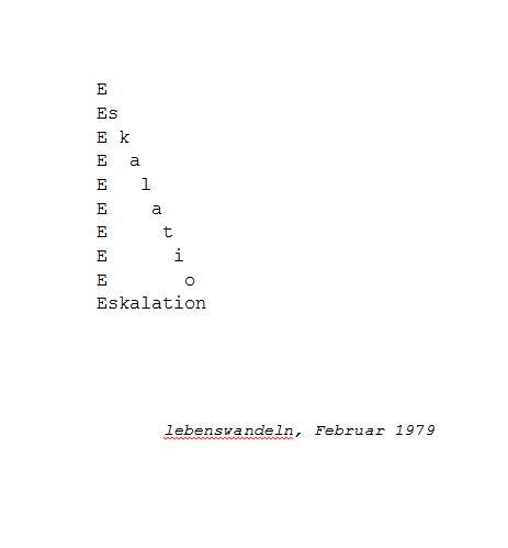 Eskalation - Konkrete Poesie